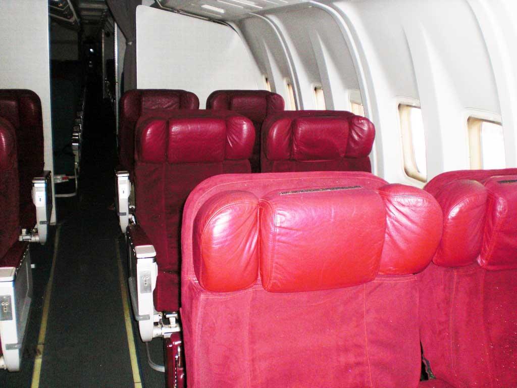 A l'intérieur d'un boeing de Air Madagascar