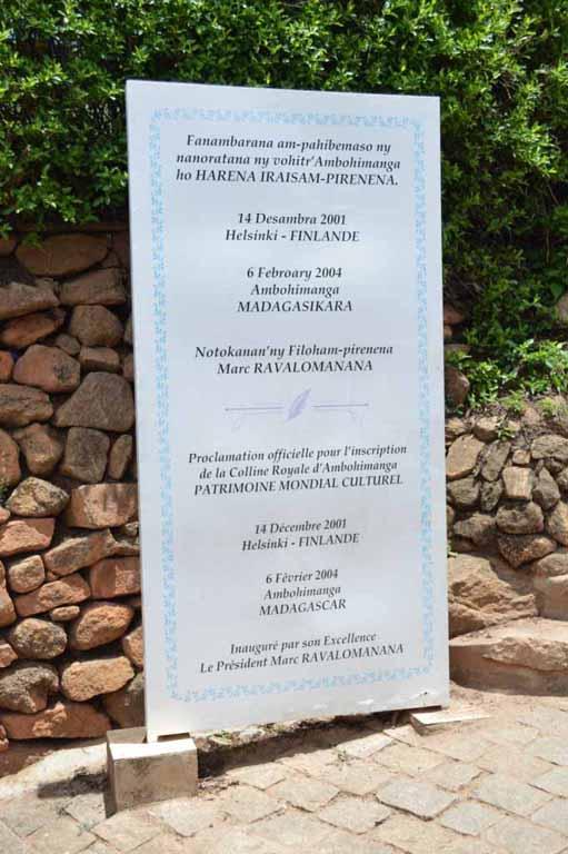 Ambohimanga patrimoine mondiale de l'UNESCO
