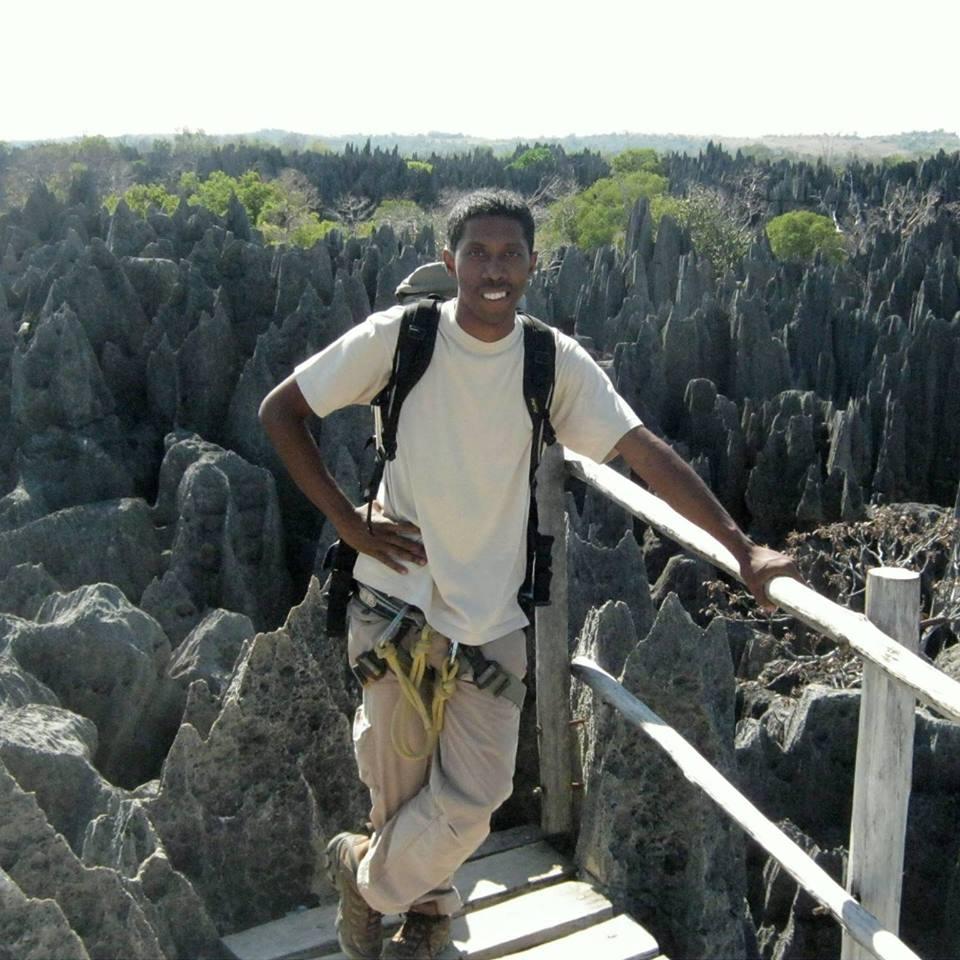 Antsa, lors d'un guidage au Tsingy du Bemaraha