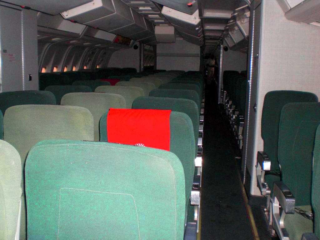 Classe économique dans un avion de air madagascar
