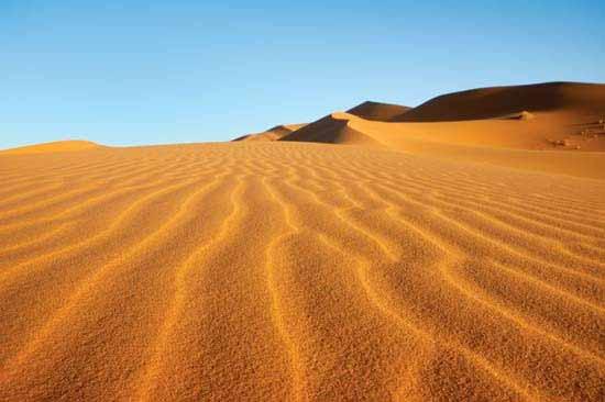 Dunes dans la région sud de Madagascar