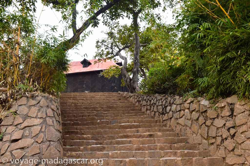 Entrée dans le palais royal d'Ilafy Antananarivo