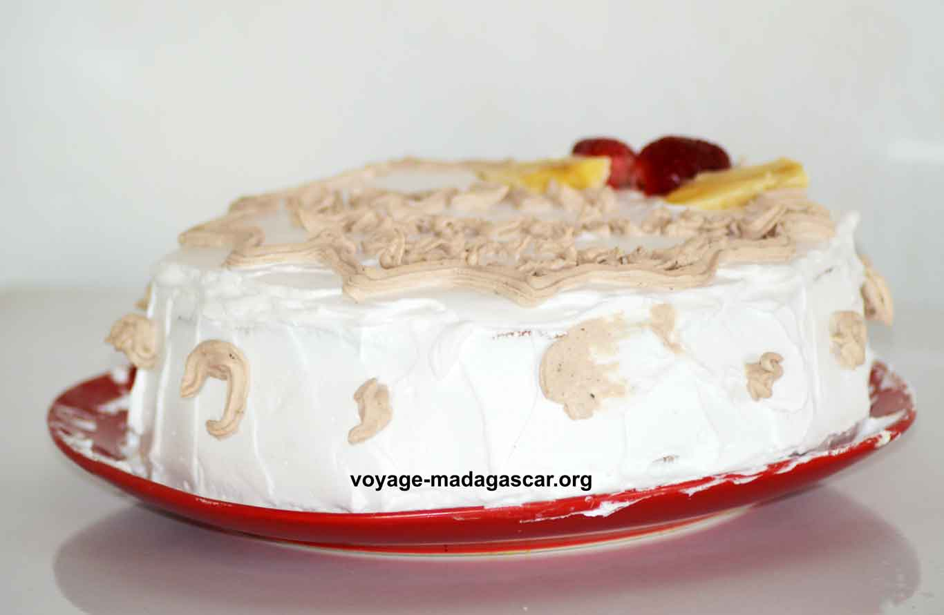 Gâteau moelleux à la fraise