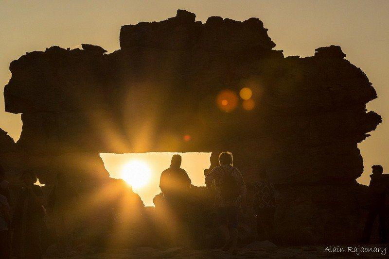 La fenêtre de l'Isalo au coucher du soleil
