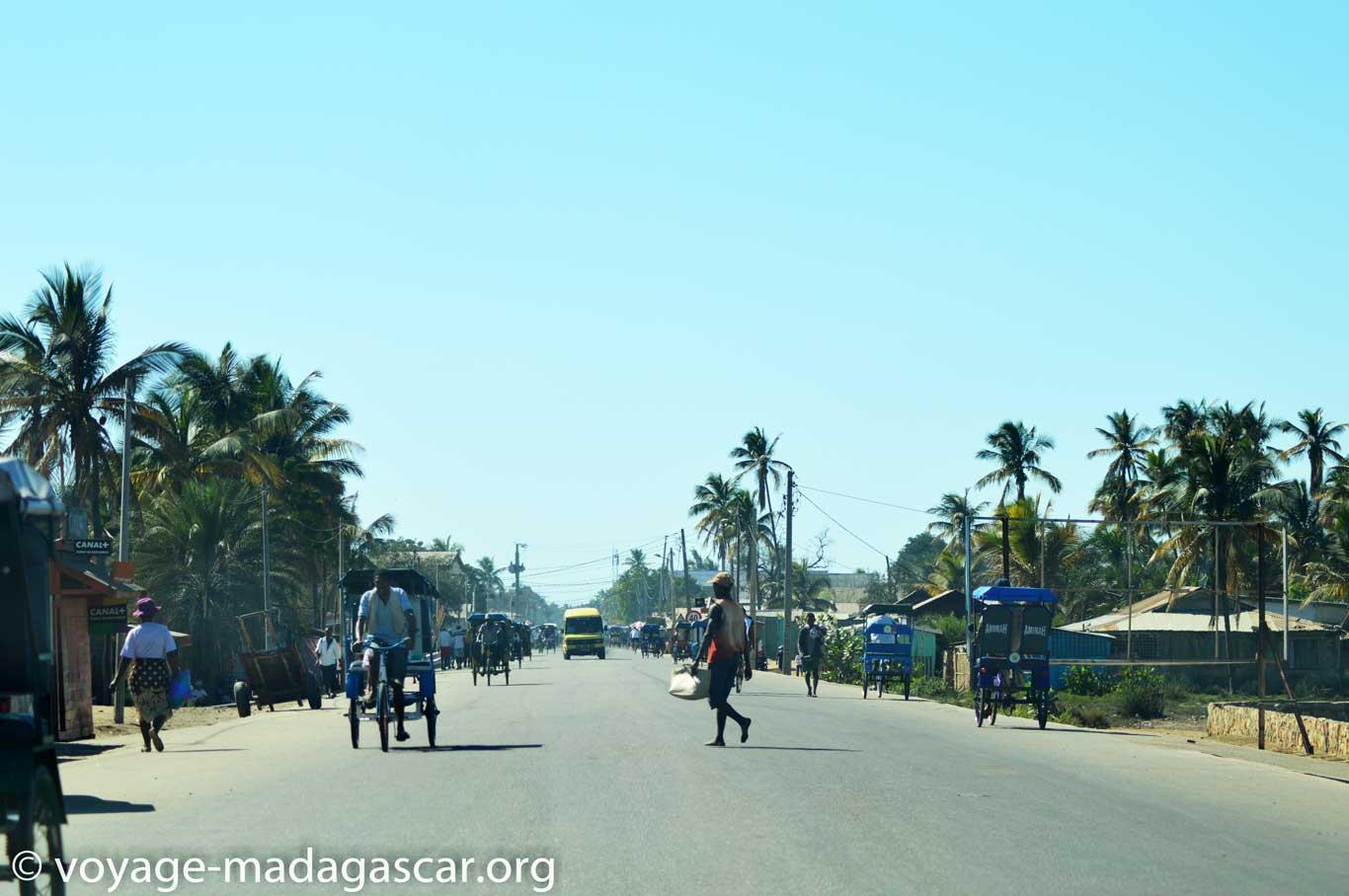 La ville de Morondava Madagascar