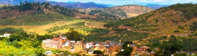 Paysage sur la route d'Ambatomanga