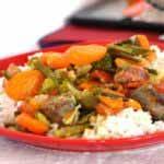 Saucisse aux légumes façon ratatouille
