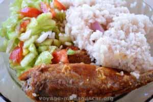 cuisine malgache - poisson cuisinée