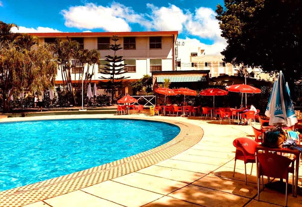 la piscine du motel d'Antananarivo Anosy
