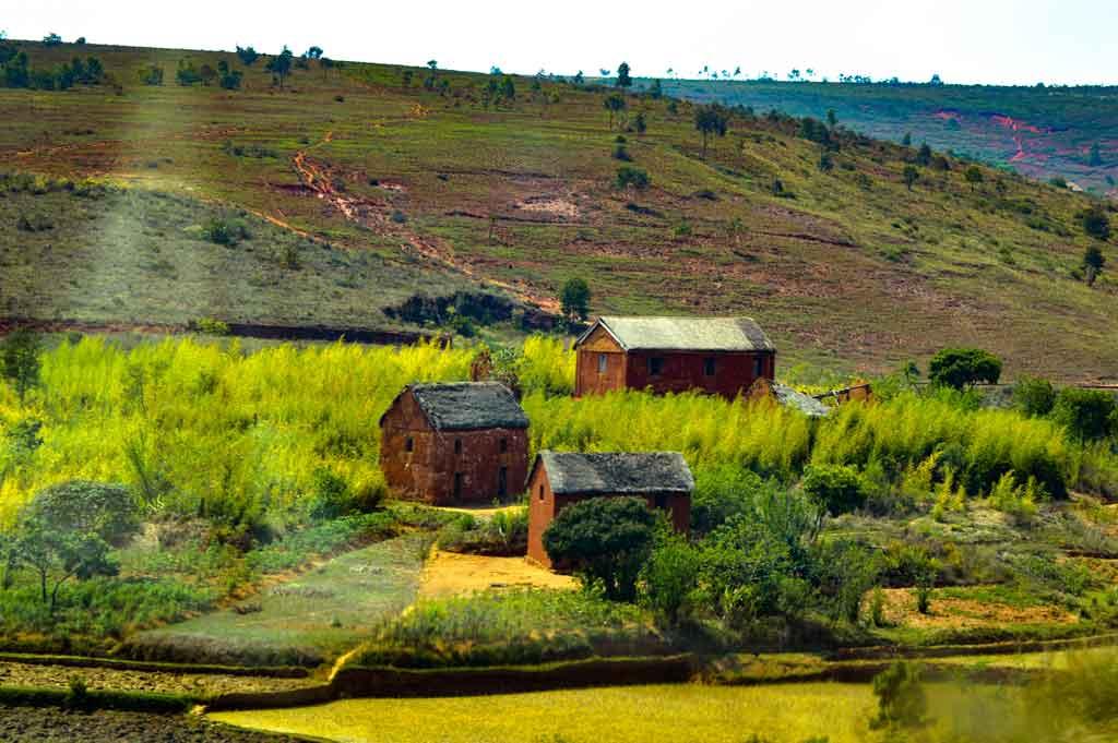Logement traditionnel à Madagascar