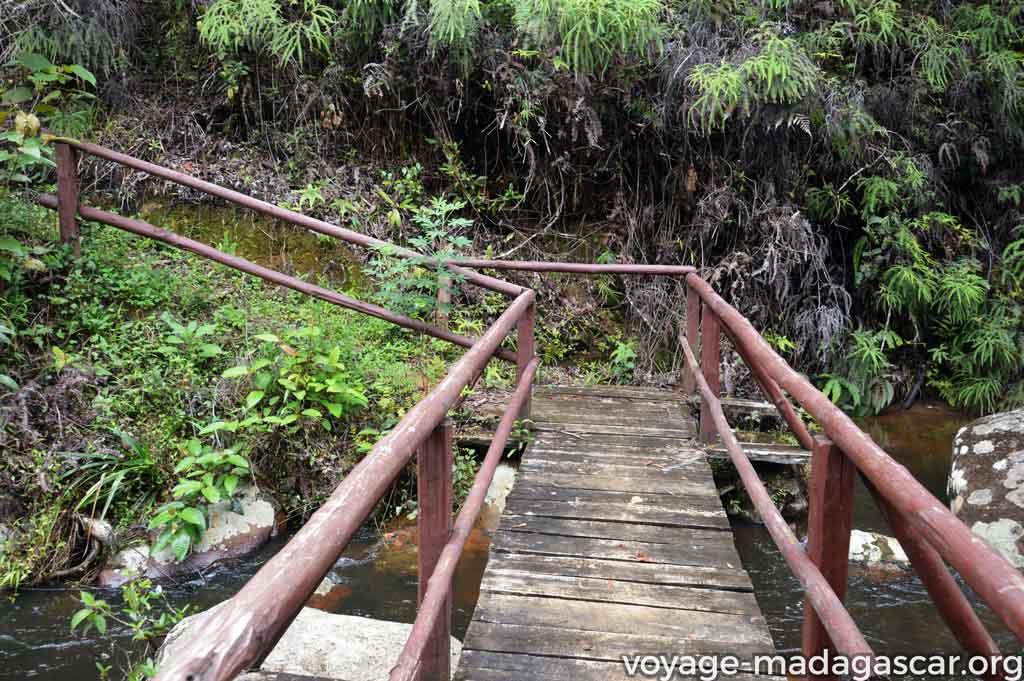 Passerelles sur les cours d'eau dans le circuit familiale à Iaroka