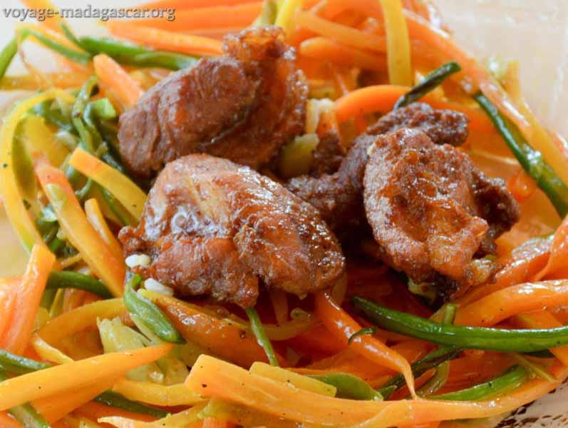 photos tsa tsiou chinois aux légumes